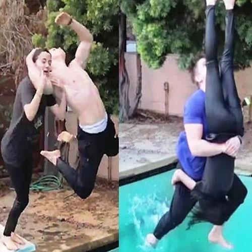 ajabgajab worlds amazing boyfriend uses all wrestling moves on girlfriend viral couple - OMG News in Hindi