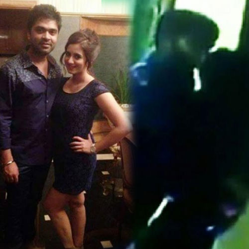 Actor simbu kissing harshika caught on cam 8