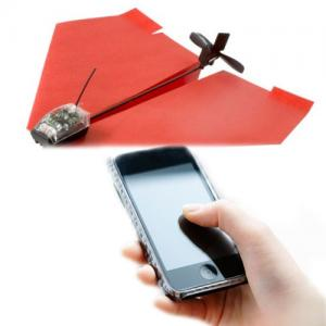 PICS : Now you can control paper airplane via smartphone!