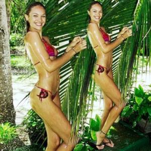 PICS : Candice goes for a sexy outdoor shower!
