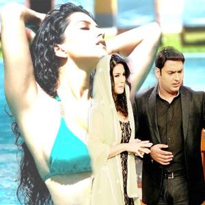 PICS : Sunny finally gets to sizzle on Kapil Sharma\'s show!
