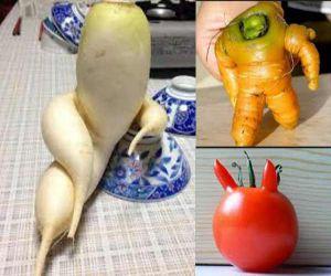 क्या कभी देखीं है ऎसी फल, सब्जियां, देखें तस्वीरें