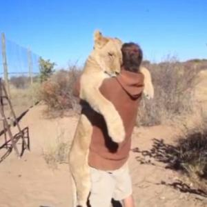 PICS : Excited Lioness Hug!!