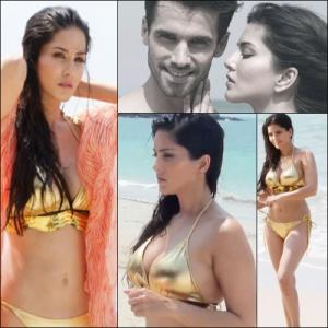 PICS : Seduction on the beach with Sunny Leone