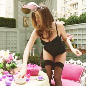 PICS : Easter Bunny: Miranda shoots for Love magazine!