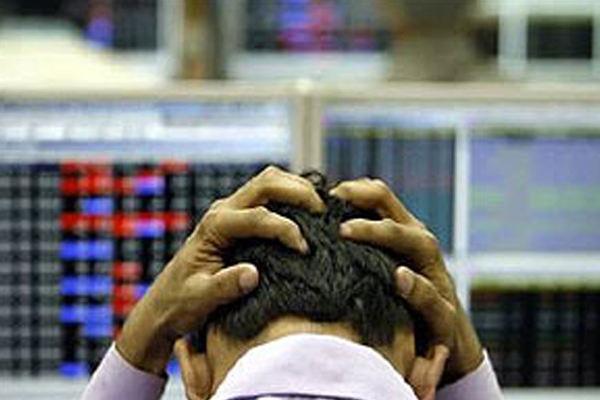 stock markets fall sensex down 392 points 431552
