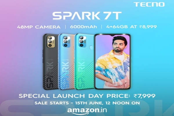 tecno unveils most affordable 48mp dual rear camera smartphone spark 7t 481201