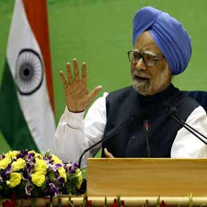 Manmohan development of claims inflation, corruption heavy