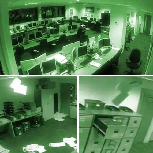 ajabgajab does this terrifying cctv video show ghosts trashing offices - OMG News in Hindi