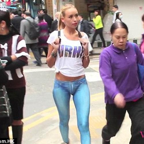 Naked Girl Walks Around Hong Kong With No Pants 13177513