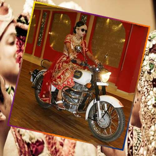 ajabgajab dulhan ride bullet in marriage - OMG News in Hindi
