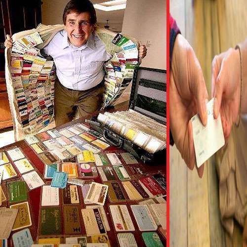 ajabgajab amazing man made world record with longest pocket of  credit cards - Chandigarh News in Hindi