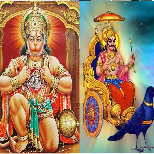 Lord Shani Dev Relationship With Hanuman - Astrology in Hindi