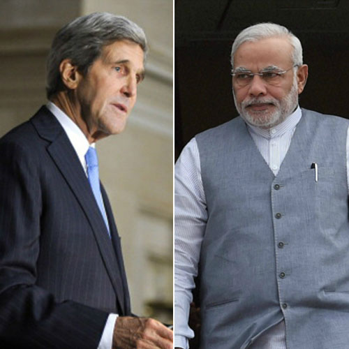 news us secretary of state john kerry india prime minister narendra modi - India News in Hindi