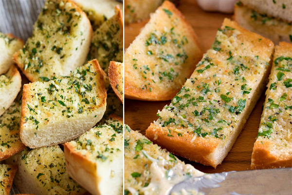Recipe: Homemade garlic bread with nutrition facts