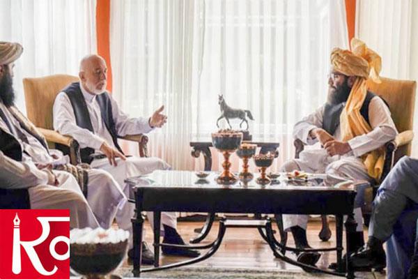Afghanistans EX-President Hamid Karzai meets senior Taliban faction leader