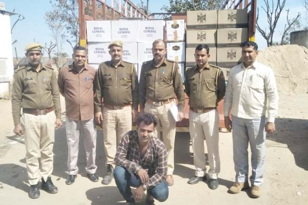 Harmada police station action in Jaipur, 205 cartons of illegal liquor recovered from truck - Jaipur News in Hindi