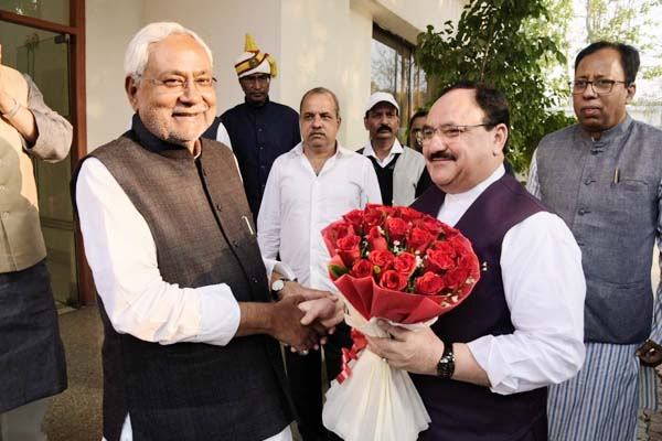 Bihar: Nadda met Nitish, discussion on election - Patna News in Hindi