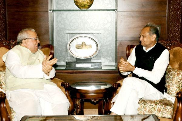 Chief Minister Ashok Gehlot meets Governor Kalraj Mishra - Jaipur News in Hindi