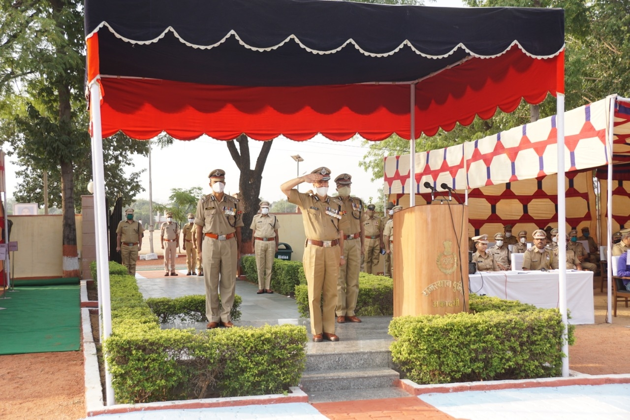 Police Martyr Day Tribute to the martyred policemen - Jaipur News in Hindi