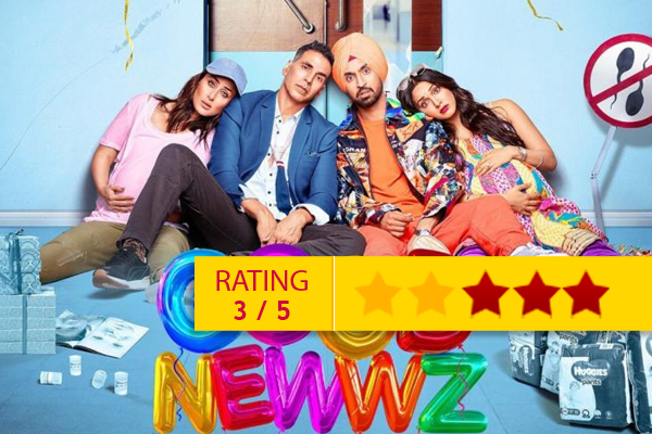Good Newwz movie review, different story and comedy are usp - Movie Review in Hindi