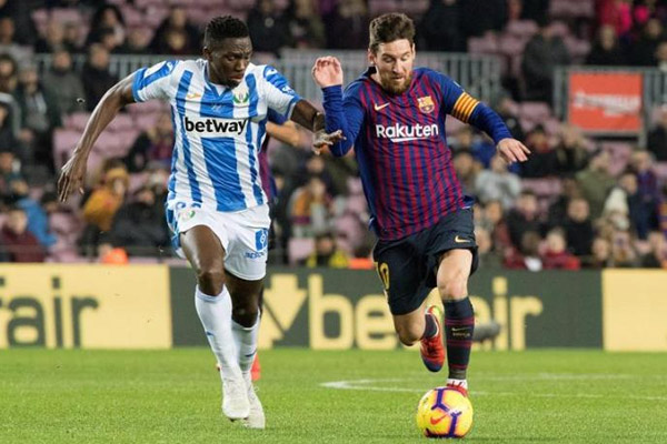 Spanish League : Barcelona beat Leganes, Lionel Messi scores goal in injury time - Football News in Hindi