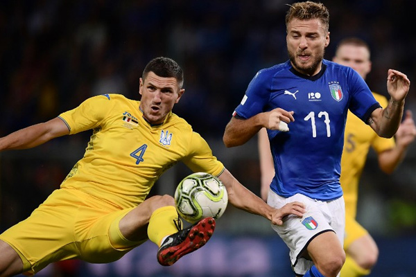 Friendly Football Match : Italy played draw with Ukraine - Football News in Hindi