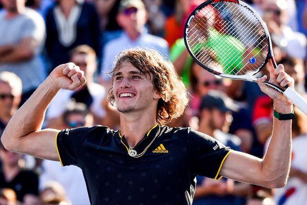 Rogers Cup tennis tournament : Alexander Zverev beat Roger Federer in final - Tennis News in Hindi