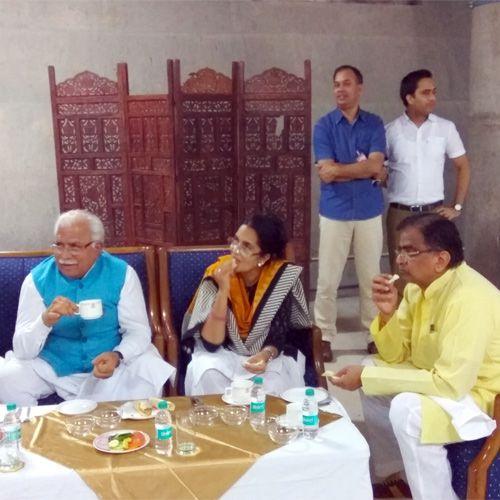 tea party haryana assembly - Chandigarh News in Hindi