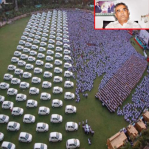 Surat Diamond Merchant gifted 400 flats and 1260 cars as Diwali bonuses to employees - News in Hindi