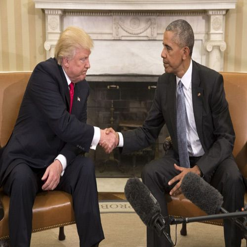 Donald Trump and Barack Obama meet at White House - World News in Hindi