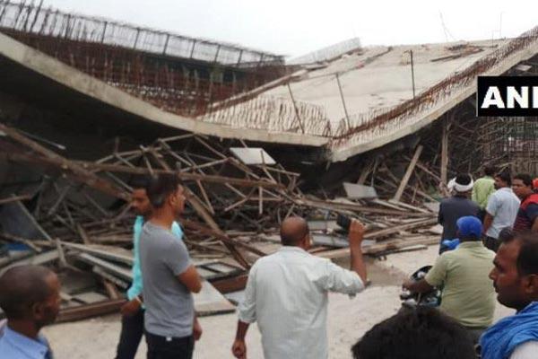UP : नेशनल हाईवे 28 पर फ्लाईओवर गिरा, 4 लोग जख्मी, रेस्क्यू ऑपरेशन जारी