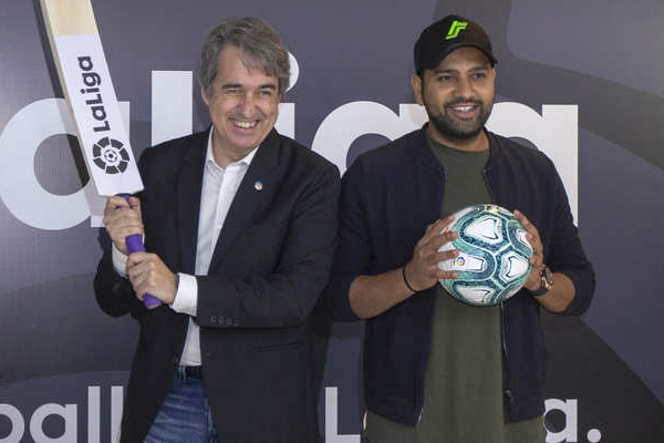 Indian opener Rohit Sharma becomes new La Liga brand ambassador - Cricket News in Hindi
