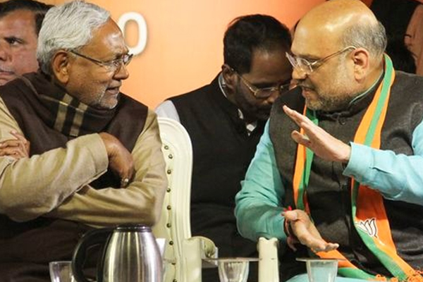 Delhi Assembly Election : Amit Shah and Nitish Kumar could not save their candidate defeat in burari seat - Delhi News in Hindi