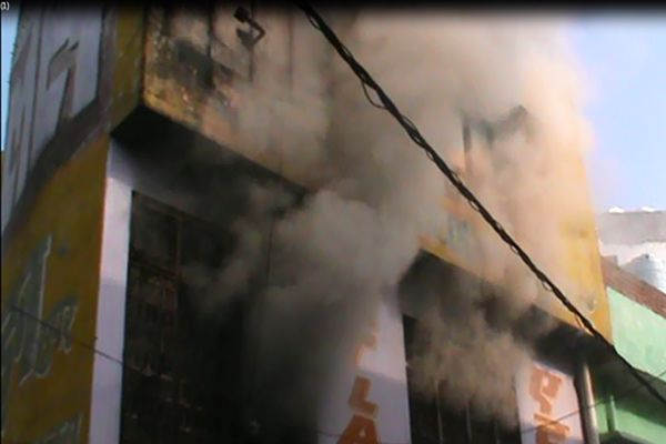 fire at Cycle warehouse dust 1 million of goods - Sambhal News in Hindi