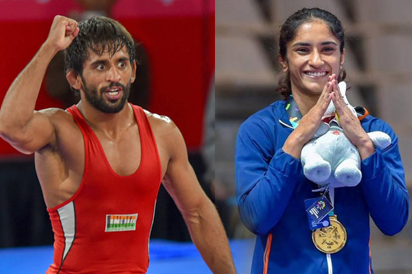 Year 2018 : Bajrang Punia and Vinesh Phogat main attraction in wrestling - Sports News in Hindi