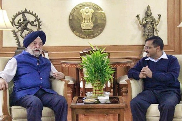 Delhi Violence : Chief Minister Arvind Kejriwal meet Union Urban Development Minister Hardeep Singh Puri - Delhi News in Hindi
