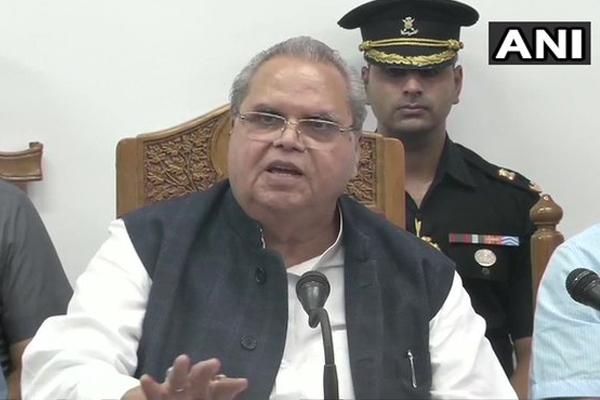 Governor Satya Pal Malik says, no civilian death, announcement for 50000 jobs in jammu and kashmir - Srinagar News in Hindi