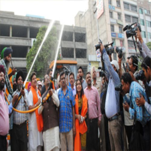Fire brigade vehicles were cleared off by - Amritsar News in Hindi