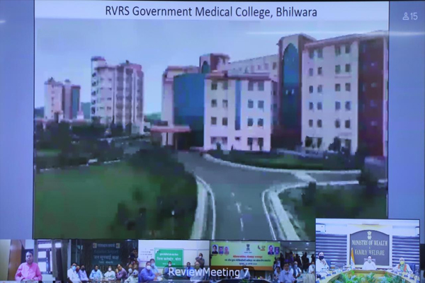 Inauguration of new medical colleges in Bhilwara and Bharatpur in Rajasthan Inauguration of new superspeciality blocks in Kota, Udaipur and Bikaner - Jaipur News in Hindi