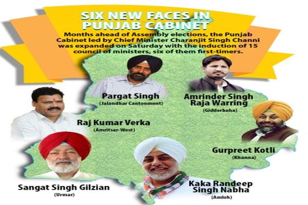 पंजाब के नए 'कप्तान' के कैबिनेट में 6 नए चेहरे