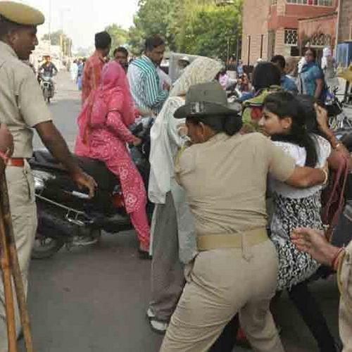 drama of asaram supporters in jodhpur - Jodhpur News in Hindi
