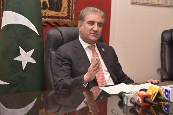 Pakistan Foreign Minister Shah Mehmood Qureshi writes letter to UN to reject bifurcation of Kashmir - World News in Hindi