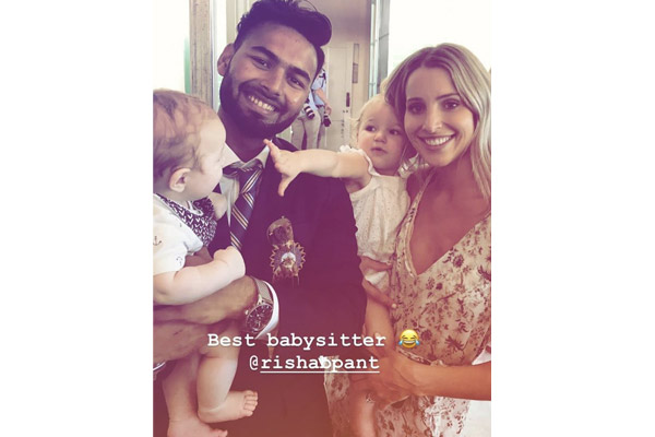 Tim Paine wife Bonnie says, Rishabh Pant is best baby seater - Cricket News in Hindi