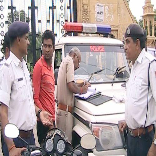 the to invoice for break the traffic rules - Churu News in Hindi