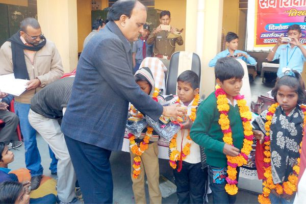 Bharatpur news : end of the District-level competition divyanga sports - Bharatpur News in Hindi