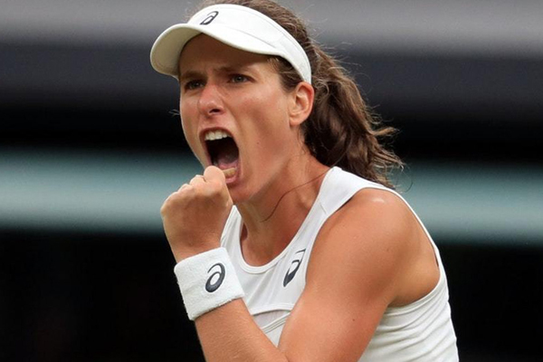 Qatar Open : Johanna Konta beats Carla Suarez Navarro to make last 16 - Tennis News in Hindi