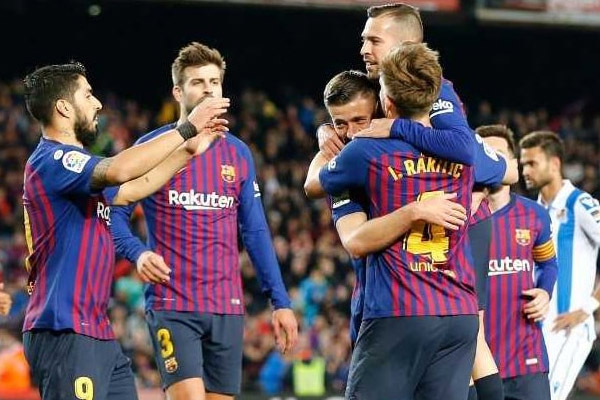 La Liga : Barcelona near title after beating Real Sociedad - Football News in Hindi