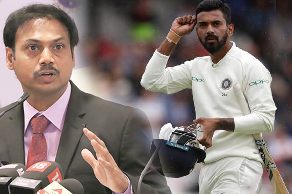 Chief selector msk prasad worried about lokesh rahul farm, Rohit Sharma may open in test - Cricket News in Hindi