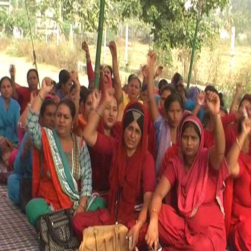 protest for the regularize - Kaithal News in Hindi